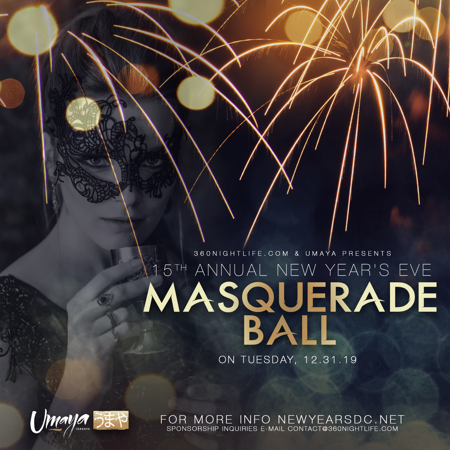 New Year's Eve Masquerade Ball at Umaya Washington, DC 2020